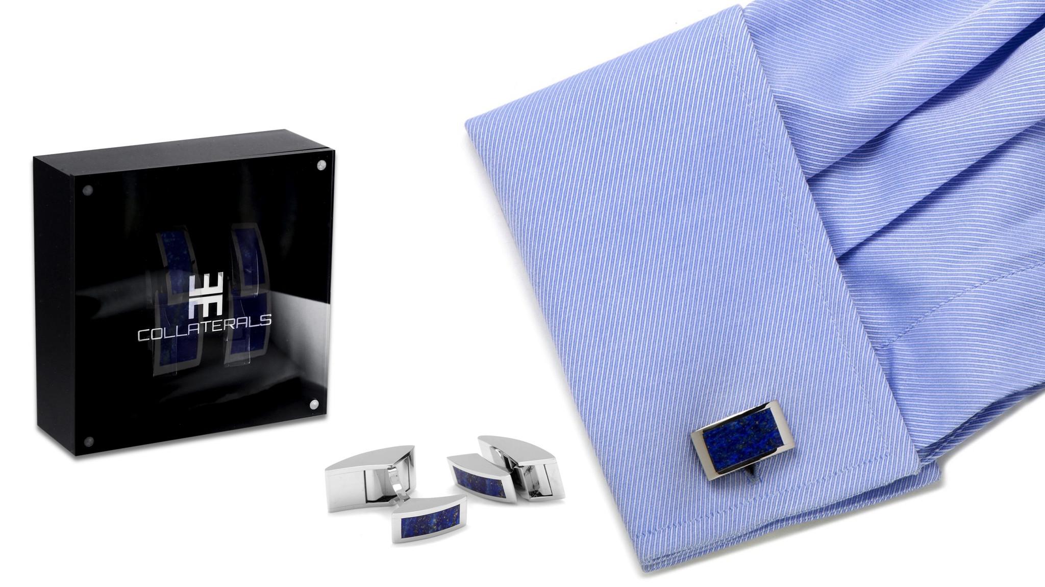 Boutons de manchette luxe prometheus Lapis Lazuli Collaterals Europe Clotilde Ranno