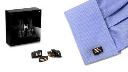 boutons de manchette chocolat collection raptor. Black Bedroom Furniture Sets. Home Design Ideas