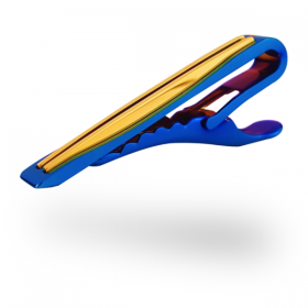 Neon Blue Tie Clips