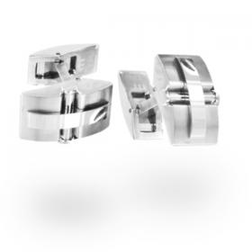 cufflinks shield silver